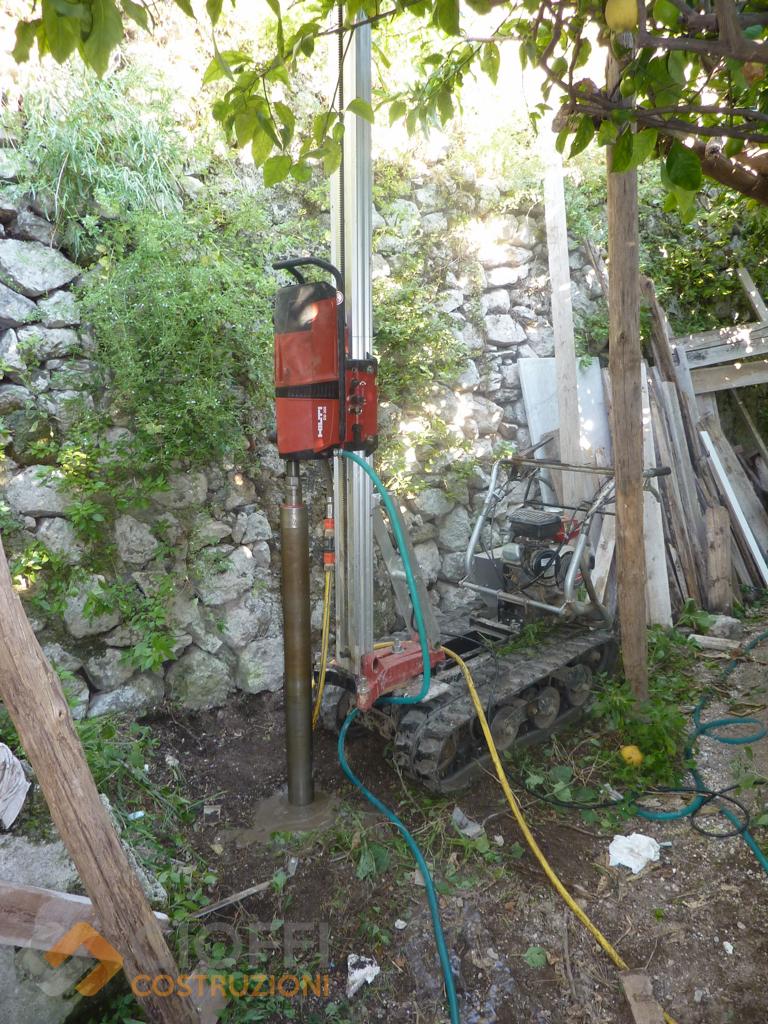 Micropali e carotaggi cioffi costruzioni for Utensili per prelevare campioni di terreno